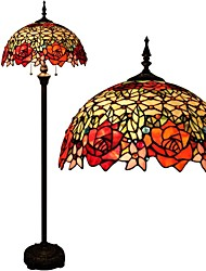 60w Tiffany Floor Lamps , Feature for Eye Protection , with Painting Use On/Off Switch Switch