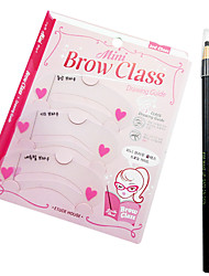 cheap -3 pcs Eyebrow Eyebrow Stencil Makeup Plastic Eye Daily Makeup Cosmetic Grooming Supplies