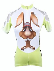 cheap -ILPALADINO Women's Short Sleeve Cycling Jersey Animal Bike Jersey, Quick Dry, Spring, 100% Polyester / Breathable / Ultraviolet Resistant / Breathable / Cartoon