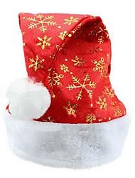 Недорогие -золотые снежинки Взрослый мужской в пух плоский край Рождество Санта шляпы