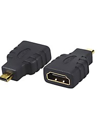 1pcs nouvelle femelle HDMI à micro hdmi mâle caméra connecteur de l'adaptateur f / m convertisseur HD TV Livraison gratuite