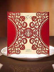 Carte plate Invitations de mariage Cartes d'invitation Le style rétro Papier durci 15*15cm