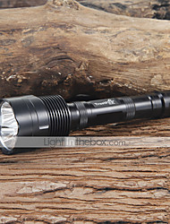 Trustfire LED Flashlights / Torch LED 3800 lm 5 Mode Cree XM-L T6 Camping/Hiking/Caving Everyday Use Black