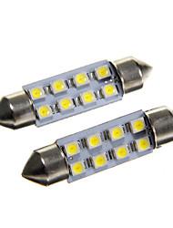 baratos -SO.K Carro Lâmpadas SMD 3528 40lm Iluminação interior For Universal