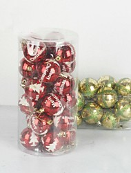 cheap -Christmas Decorations Christmas Tree Ornaments Toys Ball Cute Lovely Plastic 24 Pieces