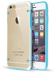 economico -ultra trasparente bagliore nel caso in cui scuro per iPhone 6S 6 Plus