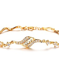 cheap -Women's Charm Bracelet - Zircon, Gold Plated Bracelet Gold For Christmas Gifts / Wedding / Party