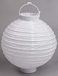 Pure White DIY Painting Lantern Holloween Decoration(Bulb Excluded)