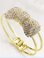 Недорогие -Браслет цельное кольцо Широкий браслет Вырезка Для вечеринки Цирконий Браслет Ювелирные изделия Золотой Назначение