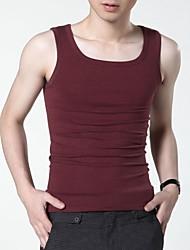 FENL Men's Square Neck Bodycon Vest