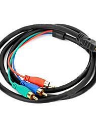 Недорогие -HDMI на 3RCA компонентный AV кабель адаптера 1,5 м 5 футов