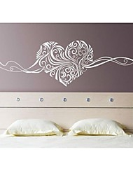 cheap -Romance Still Life Fashion Florals Abstract Wall Stickers Plane Wall Stickers Decorative Wall Stickers,Vinyl Material RemovableHome