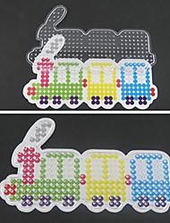 economico -1pcs modello chiaro pegboard modello treno colorato per perline fusibile perline hama 5 millimetri puzzle fai da te