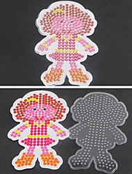 cheap -1PCS Template Clear Fuse Beads Pegboard Girl Daughter Pattern for 5mm Hama Beads DIY Jigsaw