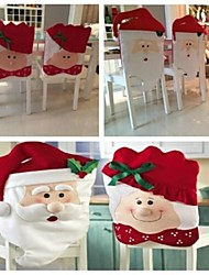 2Pcs/Set Mr & Mrs Santa Claus Kitchen Table Chair Covers 72*44CM 52*43CM
