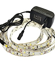 JIAWEN® 2.5M 10W 150x3528SMD 3000-3200K Warm White LED Flexible Strip Light + 2A Power (AC 110-240V)