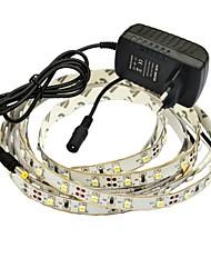 abordables -jiawen fiexble led bande de lumière 2.5m 3528md 60leds / m rgb décoration de la maison avec 2a adaptateur secteur et télécommande ac 100-240v