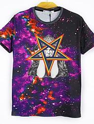 Majica s rukavima Muške Ležerno/za svaki dan Print-Kratkih rukava Ljeto Pamuk