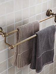 Недорогие -двойной бар полотенце, античная латунь отделка латунь материал, вспомогательное оборудование ванной комнаты
