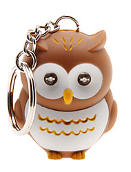 cheap -LED Lighting / Key Chain Owl Cartoon Key Chain / LED Lighting / Sound Khaki ABS