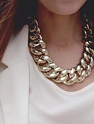 Women's Chain Necklaces Alloy Fashion Gold Silver Jewelry Special Occasion Birthday Gift
