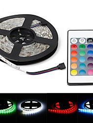 cheap -ZDM® 5m Light Sets 300 LEDs 5050 SMD 1 24Keys Remote Controller / 1 DC Cables RGB Waterproof / Decorative 12 V 1set / IP65