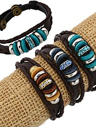 cheap -Women's Leather Bracelet Strand Bracelet Beaded Leather Rhinestone Jewelry Daily Casual Costume Jewelry