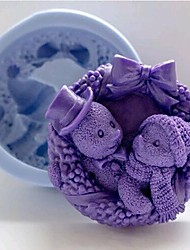baratos -Ferramentas bakeware Plástico Bolo Moldes de bolos 1pç