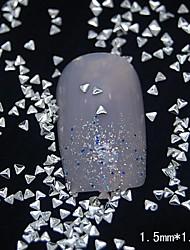 cheap -100PCS Small Triangle Silver Metal Rivet Nail Art Decoration