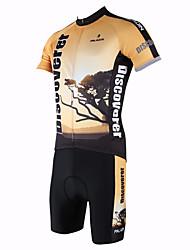 povoljno -ILPALADINO Muškarci Kratkih rukava Biciklistička majica s kratkim hlačama Životinja Bicikl Kompleti odjeće, Quick dry, Ultraviolet