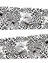 preiswerte -1x10pcs Wassertransferdruck Nail Art Sticker Aufkleber M75