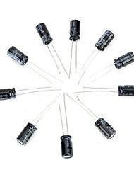 Недорогие -поделки 25v / 100uf алюминиевых электролитических конденсаторов - черный (10шт)