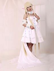 Inspireret af Tsubasa Chii Anime Cosplay Kostumer Cosplay Kostumer Kjoler Patchwork Langærmet Kjole Krave Til Kvindelig