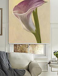 estilo de pintura a óleo elegante lavanda máscara do rolo floral