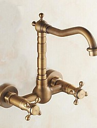 cheap -Kitchen faucet - Traditional Antique Brass Bar/­Prep Wall Mounted