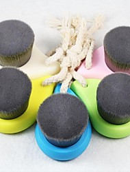 spazzola morbida pulizia del viso profonda dei pori di bambù pennello pulito del carbone di legna fibra cura del viso