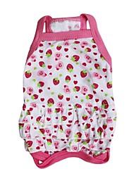 baratos -Gato Cachorro Vestidos Roupas para Cães Fruta Rosa claro Algodão Ocasiões Especiais Para animais de estimação Casamento