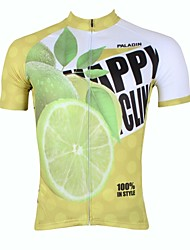 Недорогие -ILPALADINO Муж. С короткими рукавами Велокофты Фрукты Велоспорт Джерси Верхняя часть Дышащий Быстровысыхающий Ультрафиолетовая устойчивость Виды спорта 100% полиэстер / Шоссейные велосипеды