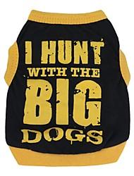 preiswerte -Katze Hund T-shirt Hundekleidung Atmungsaktiv Niedlich Lässig/Alltäglich Buchstabe & Nummer Schwarz/Orange Schwarz/Gelb Kostüm Für