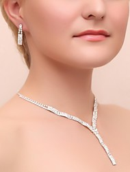cheap -Women's Cubic Zirconia Jewelry Set Include Earrings Necklaces - Cubic Zirconia Alloy For Wedding Party Special Occasion Anniversary