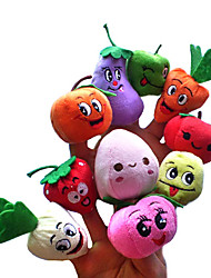 cheap -Acekid 10 Pcs Finger Puppets Fruits And Vegetables Cute Cartoon Simulation Soft Children Early Development Toys Novelty Gag Toys For Kids