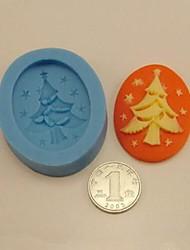 abordables -árbol de navidad herramientas de decoración pastel fondant de chocolate de silicona torta del molde, l5cm * W4cm * h1.3cm