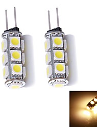 G4 LED Bi-pin Lights 13 leds SMD 5050 Warm White 130~150lm 3000~3500K DC 12V