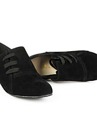 baratos -calcanhares das mulheres modernas baixo de camurça calcanhar com sapatos lace-ups de dança (mais cores)