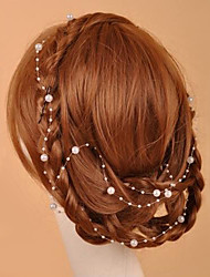 cheap -Crystal Imitation Pearl Fabric Tiaras Head Chain 1 Wedding Special Occasion Party / Evening Casual Outdoor Headpiece