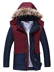 skymoto® gola de pele dos homens plus size grosso casaco de retalhos de algodão (mais cores)