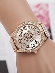 Da donna Orologio alla moda Quarzo Lega Banda Brillanti Oro Oro rosa Dorato Oro rosa