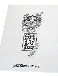 abordables -livre relié de motif de tatouage