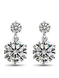 cheap -Women's Stud Earrings Fashion Sterling Silver Imitation Diamond Jewelry Screen Color Daily Costume Jewelry
