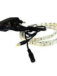 ha portato jiawen® 1m 4w 60x3528smd 6000-6500k bianco / bianco caldo luce di striscia flessibile + power 1a (CA 110-240V)